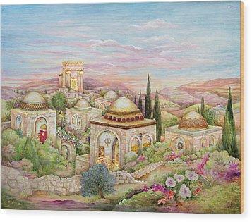 Jerusalem Landscape Wood Print by Michoel Muchnik