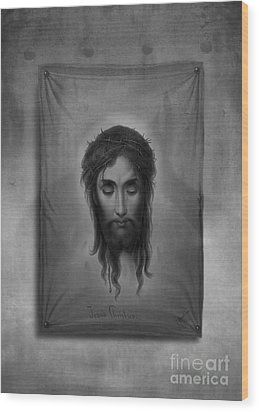 Jesus Christus Wood Print by Edward Fielding