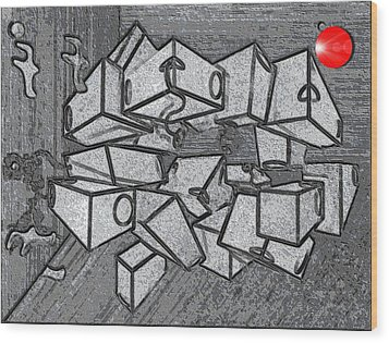 #1 Keeping It Together Alteration Wood Print by George Curington