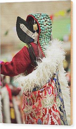 Ladakh, India Married Ladakhi Women Wood Print by Jaina Mishra