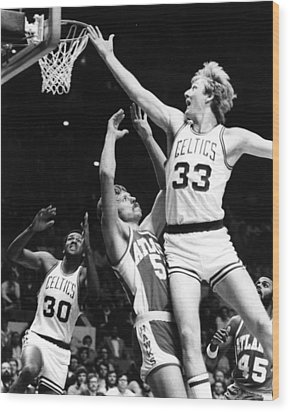 Larry Bird Wood Print by Retro Images Archive