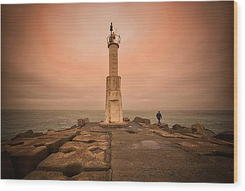 Lighthouse Wood Print by Okan YILMAZ