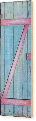 Little Z Door Revisited Wood Print by Asha Carolyn Young