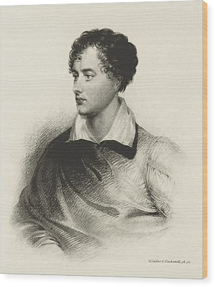 Wood Print featuring the photograph Lord Byron, English Romantic Poet by British Library