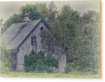Maine Countryside Wood Print by Richard Bean