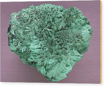 Malachite Mineral Wood Print by Science Photo Library