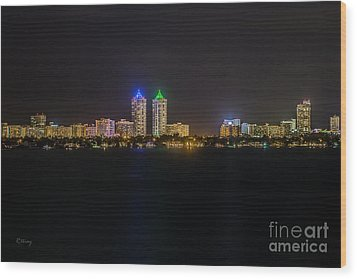 Millionaire's Row Miami Beach Skyline Wood Print by Rene Triay Photography