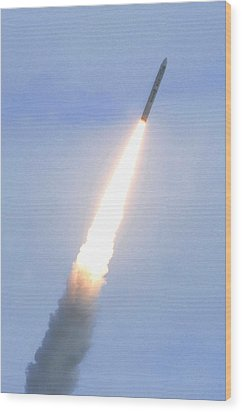 Minotaur Iv Lite Launch Wood Print by Science Source