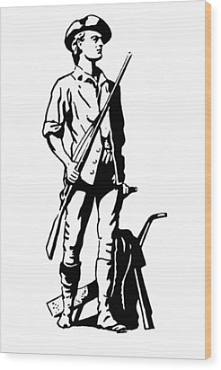 Minuteman Wood Print by Granger