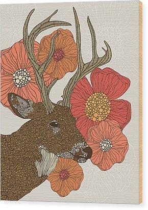 My Dear Deer Wood Print by Valentina Ramos