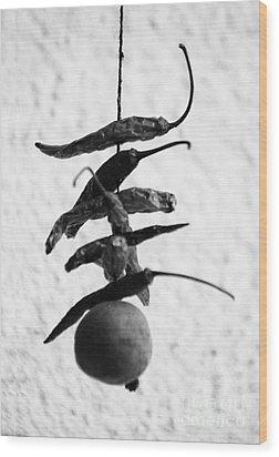 Neembu Mirch Lemon N Chillies Wood Print by Vineesh Edakkara