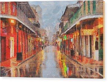 New Orleans Wood Print by George Rossidis