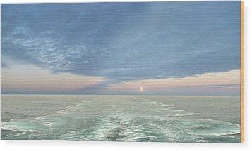 Norwegian Pearl Wood Print by John  Poon