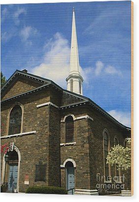 Old Dutch Church Wood Print by Donna Cavanaugh