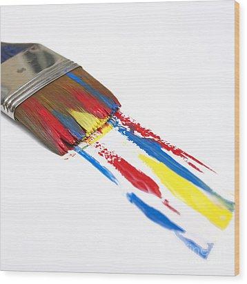 Paintbrush Wood Print by Bernard Jaubert