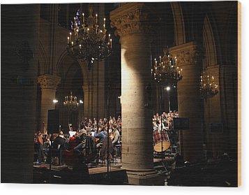 Paris France - Notre Dame De Paris - 01136 Wood Print by DC Photographer