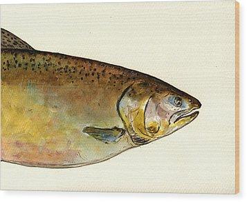 1 Part Chinook King Salmon Wood Print by Juan  Bosco