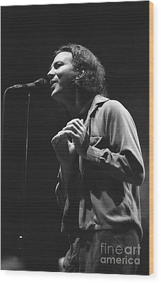 Pearl Jam Wood Print by Concert Photos