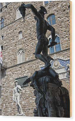 Perseus By Cellini Wood Print by Melany Sarafis