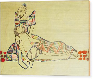 Pieta Wood Print by Gloria Ssali