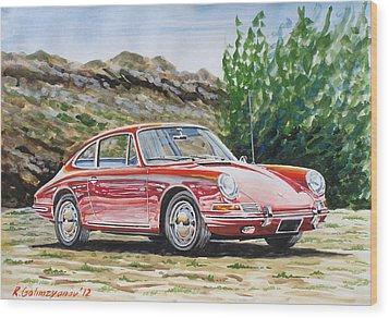 Porsche 911 Wood Print by Rimzil Galimzyanov