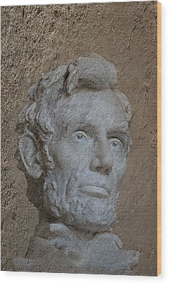 President Lincoln Wood Print by Skip Willits