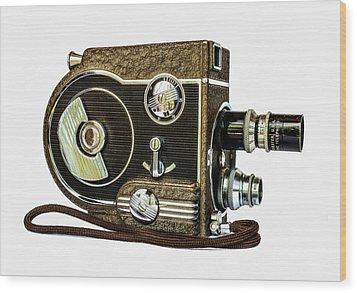 Revere 8 Movie Camera Wood Print by Jon Woodhams