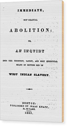 Slavery. An Abolitionist Book. The Wood Print by Everett