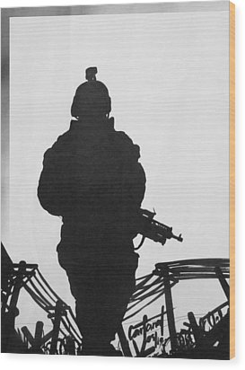 Soldier Wood Print by David Cohen