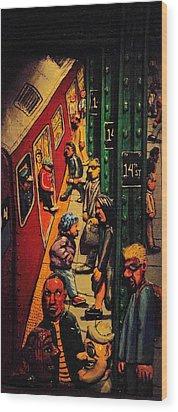 Subway Wood Print by Rob Hans