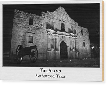 The Alamo Wood Print by Stephen Stookey