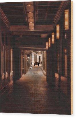 The Alleyway Wood Print by Joann Vitali