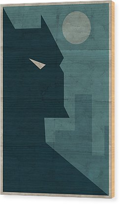 The Dark Knight Wood Print by Michael Myers