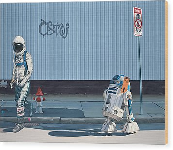 The Parking Ticket Wood Print by Scott Listfield