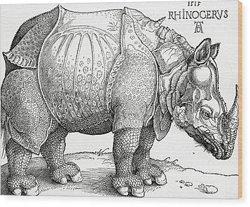 The Rhinoceros Wood Print by Albrecht Durer
