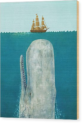 The Whale  Wood Print by Terry  Fan