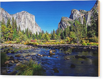 Valley View Yosemite National Park Wood Print by Scott McGuire