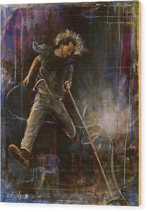 Vedder Wood Print by Josh Hertzenberg