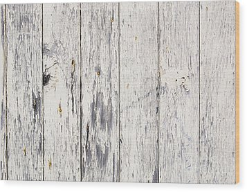 Weathered Paint On Wood Wood Print by Tim Hester