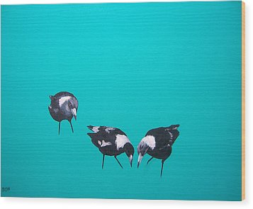 What About Me Wood Print by Jan Matson