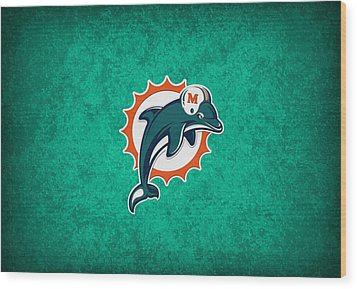 Miami Dolphins Wood Print by Joe Hamilton