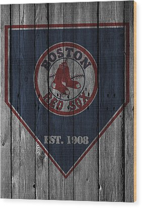 Boston Red Sox Wood Print by Joe Hamilton