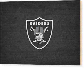 Oakland Raiders Wood Print by Joe Hamilton