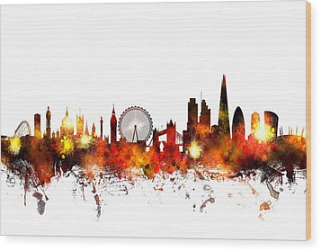London England Skyline Wood Print by Michael Tompsett