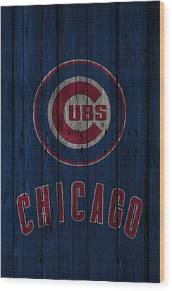 Chicago Cubs Wood Print by Joe Hamilton