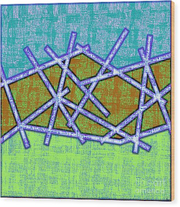 1455 Abstract Thought Wood Print by Chowdary V Arikatla