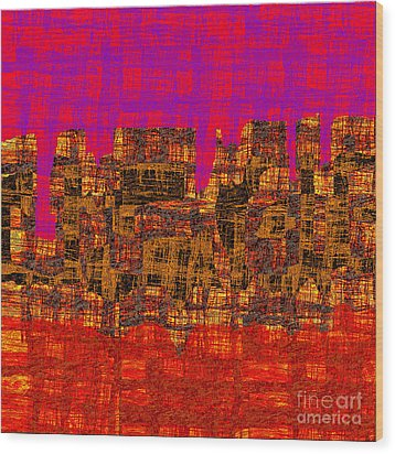 1457 Abstract Thought Wood Print by Chowdary V Arikatla