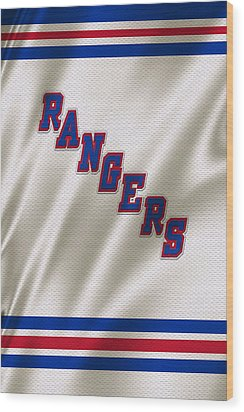 New York Rangers Wood Print by Joe Hamilton