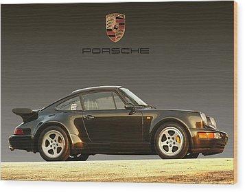 Porsche 911 3.2 Carrera 964 Turbo Wood Print by Ganesh Krishnan