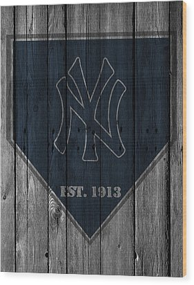 New York Yankees Wood Print by Joe Hamilton